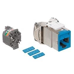 Mod Jack, Atlas-X1, Category 5e Shielded Connector, Blue