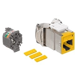 Mod Jack, Atlas-X1, Category 5e Shielded Connector, Yellow