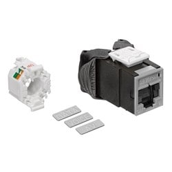 Mod Jack, Atlas-X1, Category 6 UTP Connector, With Shutters, Grey