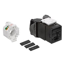 Mod Jack, Atlas-X1, Category 6A UTP Connector, With Shutters, Black