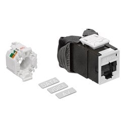 Mod Jack, Atlas-X1, Category 6A UTP Connector, With Shutters, White