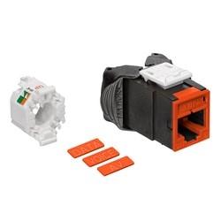 Mod Jack, Atlas-X1, Category 6 UTP Connector, Orange