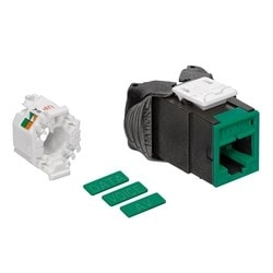 Mod Jack, Atlas-X1, Category 6 UTP Connector, Green