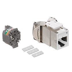 Mod Jack, Atlas-X1, Category 6 Shielded Connector, White