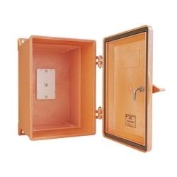 NEMA 4 X téléphone robuste boîtier, Orange, avec fixation murale RJ11 Jack