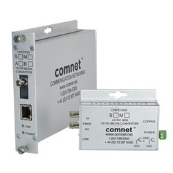 Small Size 100 Mbps Media Converter (A), ST Connector, AC/DC Power, MM, 1 Fiber