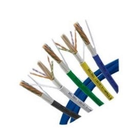 Copper Cable, 10GXS Category 6A Small Diameter, Nonbonded-Pair, 4-pair, 23 AWG, CMR, Gray, 1000 ft Reel-In-Box