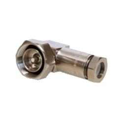 """7-16 connecteur mâle DIN pour 1/2"""" câble Coaxial, OMNI FIT TM Premium, < br / > querre, fileté joint et étanchéité de compression 360"""