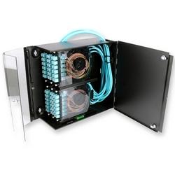 Enceinte de fibre, connecteur mural logement (WCH), détient 6 CCH connecteur panneaux/Cassettes, vide, noir