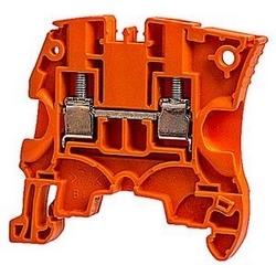 Orange, par bloc d'alimentation avec espacement de 6 mm, 41 ampère évalué UL actuel et raccordement à vis