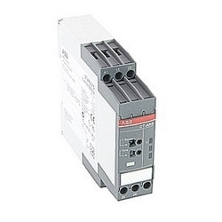 Timer with adjustable time delays from 0.05 sec. to 10 mins. in 7 ranges, and 24-240V AC/DC rated control supply voltage, no control input and 2 SPDT (c/o) output contacts