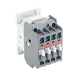 3 pole, 25 amp, non-reversing across the line contactor with 230-240V AC coil and 1 NC auxiliary contact