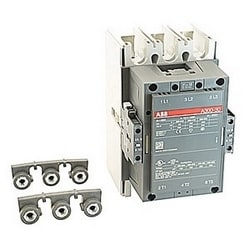 3 pole, 500 amp, non-reversing across the line contactor with 230-240V AC coil and 2 NO and 2 NC auxiliary contacts
