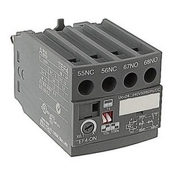 4 pole ON-delay electronic timer with 24-240V control circuit voltage and 1 NO and 1 NC auxiliary contacts for NF(Z) contactors and control relays