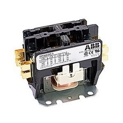 2 pole, 30 amp, non-reversing, definite purpose contactor, 120V AC coil, industry standard mounting plate