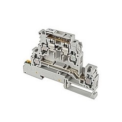 Gris LED 24V, double pont fusible modulaire support bornier pour 5 x 20 mm et des fusibles de 5 x 25 mm avec raccords clamp