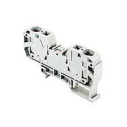 Gray se nourrissent par bornier avec espacement de 12 mm, 54 ampère UL courant nominal avec raccordement ressort qui accepte 20-6 gamme de fils AWG UL