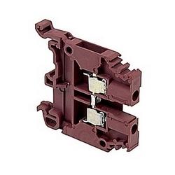 Brown, par bloc d'alimentation avec 6 mm espacement, 30 ampère UL courant nominal avec raccordement vis à ressort qui accepte 22-10 gamme de fils AWG UL