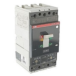 3 pole, 200 amps rated at 600V AC, Tmax molded case circuit breaker with adjustable thermal magnetic trip device and 65kA at 480 V AC interrupt current rating