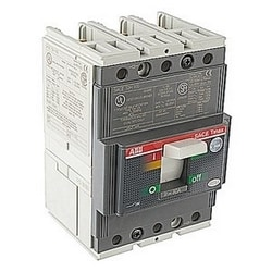 3 pole, 80 amps rated at 480V AC, Tmax molded case circuit breaker with a thermal magnetic trip device and 65kA at 480V AC interrupt current rating