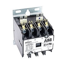 4 pole, 30 amp, non-reversing, definite purpose contactor, 208/240V AC coil, industry standard mounting plate