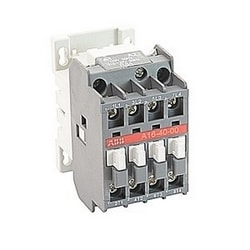 4 pole, 30 amp, across the line block contactor with 110-120V AC coil and no auxiliary contacts