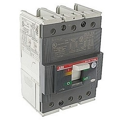 3 pole, 150 amps rated at 600V AC, Tmax molded case circuit breaker with thermal magnetic trip device and 25kA at 480 V AC interrupt current rating