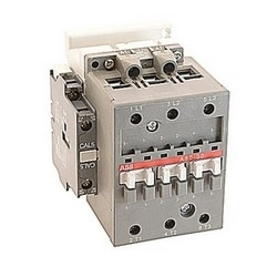3 pole, 55 amp, non-reversing across the line contactor with 230-240V AC coil and 1 NO and 1 NC auxiliary contacts