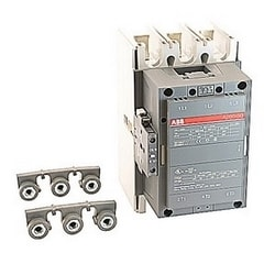 3 pole, 400 amp, non-reversing across the line contactor with 230-240V AC coil and 1 NO and 1 NC auxiliary contacts