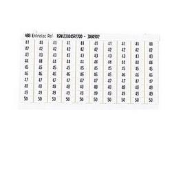 RC510 TERMINAL BLOCK MARKERS PRE-PRINTED MARKER VERTICAL 10 X 41-50