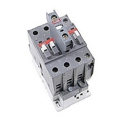 3 pole, 60 amp, non-reversing across the line contactor with 110-120V AC coil and 1 NO and 1 NC auxiliary contacts