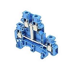 Bleu double-pont borniers UL assignée a 20 avec un raccordement vis qui accepte le 22 - 12 gamme de fils AWG