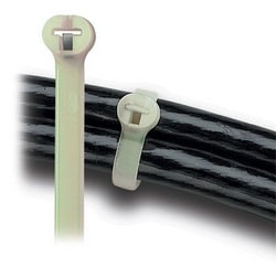 "Cable Tie 120lb 13"" Light Green High-Temperature Nylon with Stainless Steel Locking Device"