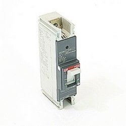 1 pole, 250 amps rated at 240V AC and 125V DC, fixed trip point molded case circuit breaker, with a thermal magnetic trip device and 10kA at 240V AC and 5kA at 125V DC interrupt current rating