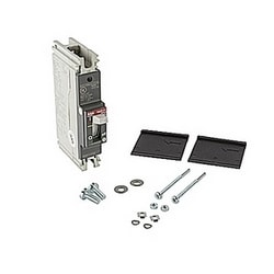 1 pole, 30 amps rated at 240V AC and 125V DC, fixed trip point molded case circuit breaker, with a thermal magnetic trip device and 14kA at 240V AC and 10kA at 125V DC interrupt current rating