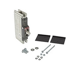1 pole, 90 amps rated at 240V AC and 125V DC, fixed trip point molded case circuit breaker, with a thermal magnetic trip device and 10kA at 240V AC and 5kA at 125V DC interrupt current rating
