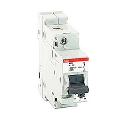 1 pole, 37 amps rated at 600Y/277 V AC, UL 1077 series miniature circuit breaker with adjustable trip device, K trip curve, and 30kA interrupt current rating
