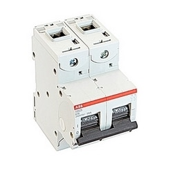 pôle 2, 16 ampères, évalués à 690 V AC, IEC série haute performance disjoncteur avec dispositif de voyage magnéto-thermique, courbe de déclenchement K et courant nominal de l'interruption 50kA