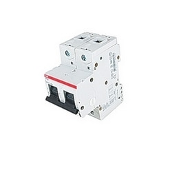 2 pole, 20 amps rated at 690 V AC, IEC series high performance circuit breaker with thermal-magnetic trip device, K trip curve, and 50kA interrupt current rating
