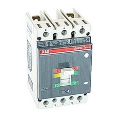 pôle 2, 100 ampères nominale de 600V AC et DC 500V, Tmax moulé boîtier disjoncteur avec un dispositif de déclenchement magnétique thermique et 25kA au courant nominal de 480V AC interruption