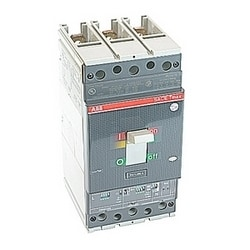 2 pole, 250 amps rated at 600V AC, Tmax molded case circuit breaker with an electronic trip device and 25kA at 480V AC interrupt current rating