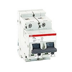 2 pole, 5.8 amps rated at 600Y/277 V AC, UL 1077 series miniature circuit breaker with thermal-magnetic trip device, K trip curve, and 30kA interrupt current rating