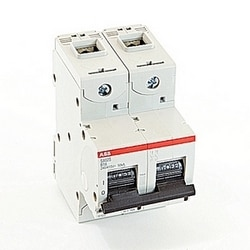 2 pole, 16 amps rated at 690 V AC, IEC series high performance circuit breaker with thermal-magnetic trip device, B trip curve, and 50kA interrupt current rating