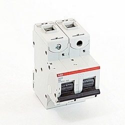 2 pole, 40 amps rated at 690 V AC, IEC series high performance circuit breaker with thermal-magnetic trip device, B trip curve, and 50kA interrupt current rating