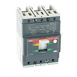 3 pole, 20 amps rated at 240-480V AC, Tmax molded case circuit breaker with a thermal magnetic trip device and 35kA at 480V AC interrupt current rating