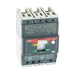 3 pole, 25 amps rated at 240-480V AC, Tmax molded case circuit breaker with an electronic trip device and 35kA at 480V AC interrupt current rating