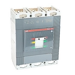 3 pole, 800 amps rated at 600V AC, Tmax molded case switch (MCS) with magnetic only (MCS) trip device and 65kA at 480V AC interrupt current rating