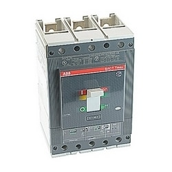 3 pole, 400 amps rated at 600V AC/DC, Tmax molded case circuit breaker with a thermal magnetic trip device and 100kA at 480V AC interrupt current rating