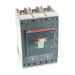 3 pole, 400 amps rated at 600V AC, Tmax molded case circuit breaker with an electronic trip device and 25kA at 480V AC interrupt current rating