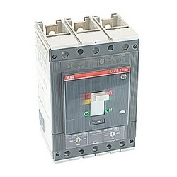 3 pole, 400 amps rated at 600V AC, Tmax molded case circuit breaker with an electronic trip device and 35kA at 480V AC interrupt current rating